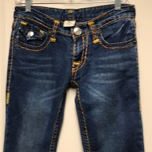 True Religion bold stitched jeans